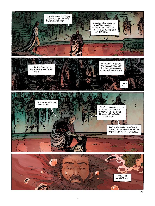 Le Troisième Testament, Julius, planche du tome 5 © Glénat / Montaigne / Dorison / Alice / Lapierre