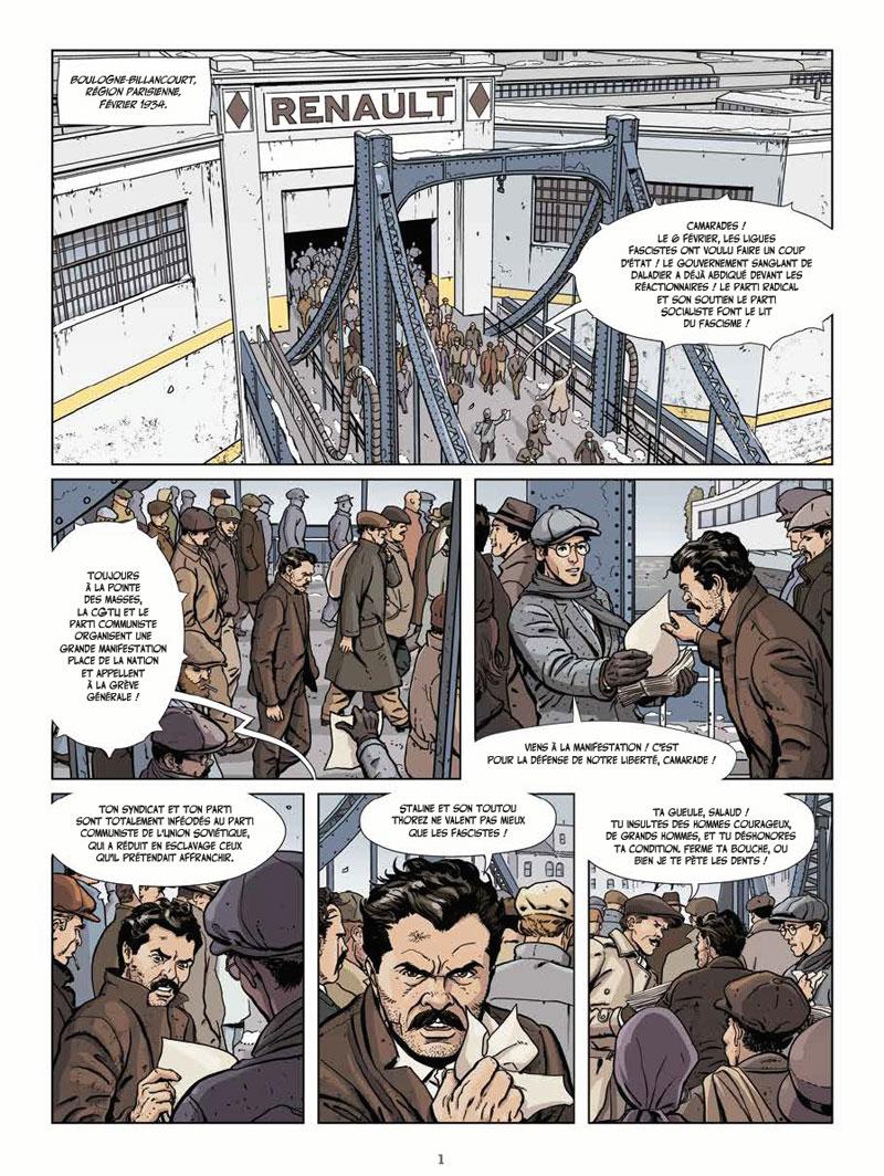 Le vent des libertaires, planche du tome 1 © Les Humanoïdes Associés / Zaghi / Thirault / Sauvêtre