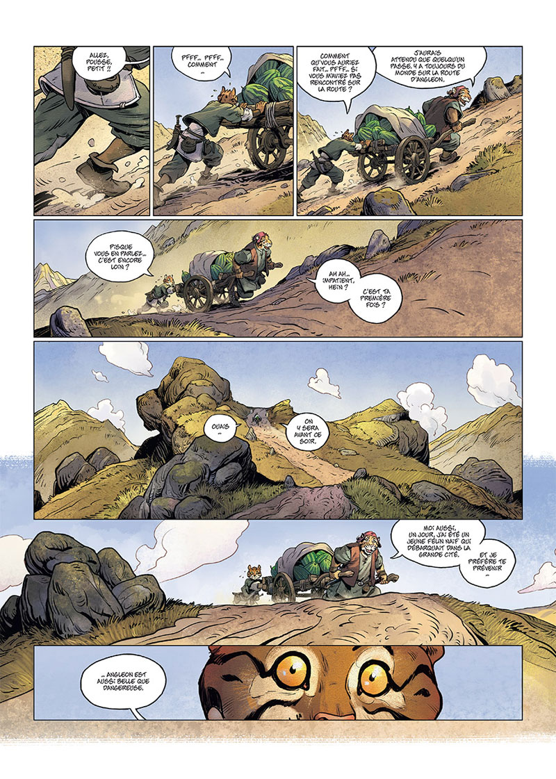 Les 5 Terres, planche du tome 1 © Delcourt / Lereculey  / Luwelyn / Martinos / Lucyd / Poli