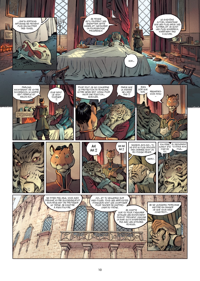 Les 5 Terres, planche du tome 1 © Delcourt / Lereculey  / Luwelyn / Martinos / Poli