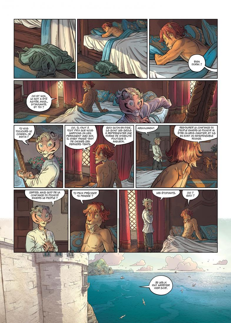 Les 5 Terres, planche du tome 5 © Delcourt / Lereculey / Luwelyn / Martinos / Poli