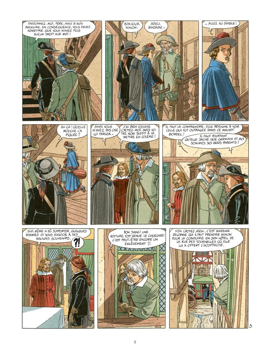 Les 7 Vies de l'épervier, planche du tome 13 © Dargaud / Juillard / Cothias