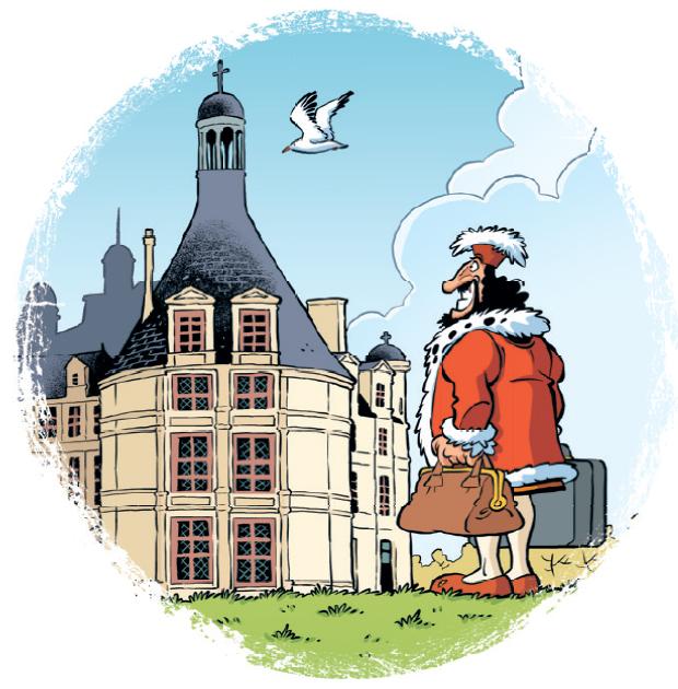 Les châteaux de la Loire, planche de l'album © Bamboo / Larbier / Cazenove / Amouriq