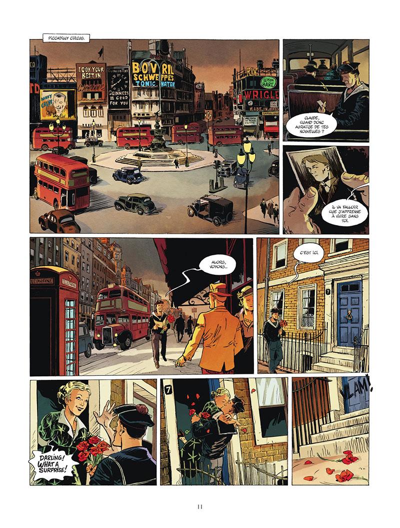 Les Compagnons de la Libération, planche du tome 5 © Bamboo / Blier / Le Naour / Bouët