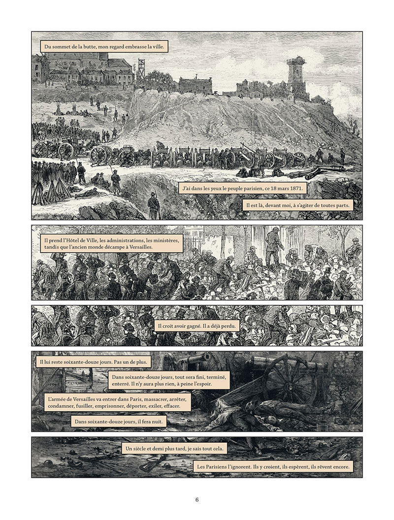 Les damnés de la Commune, planche du tome 2 © Delcourt / Meyssan