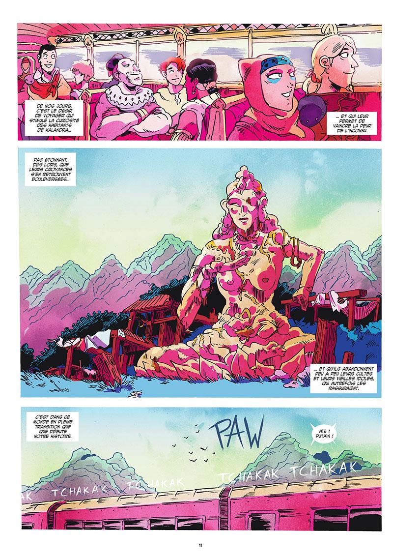 Les Lames d'Ashura, planche de l'album © Ankama / Pagani