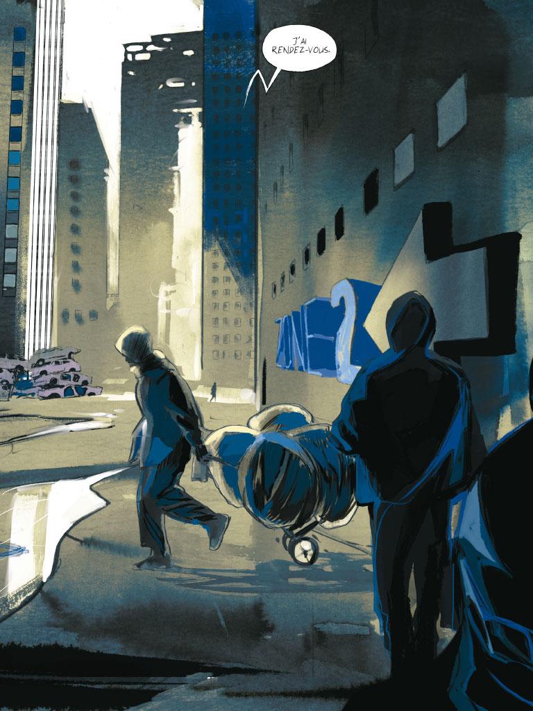 Le lendemain du monde, planche de l'album  © Casterman / Xavier / Cotte