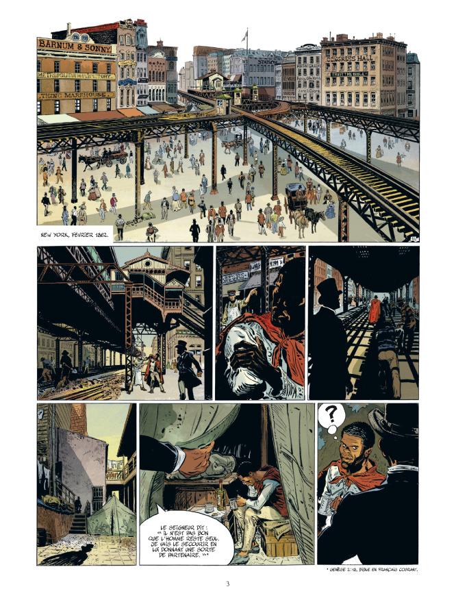 Les Maîtres de White Plain, planche du tome 2 © Bamboo / Giner-Belmonte / Chevais-Deighton / Voillat / Bouet