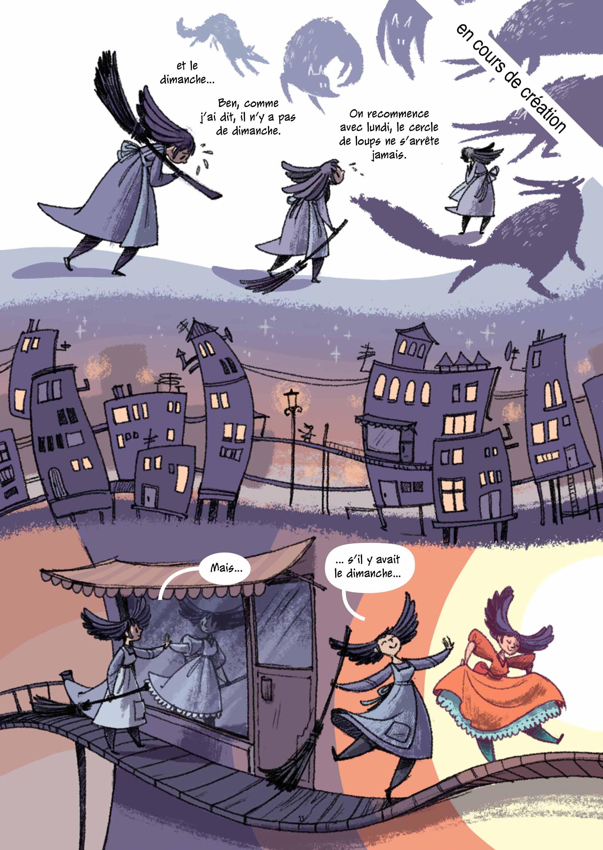 Les Merveilleux Contes de Grimm, planche du tome 4 © Les Aventuriers de l'Etrange / Surducan / Grimm