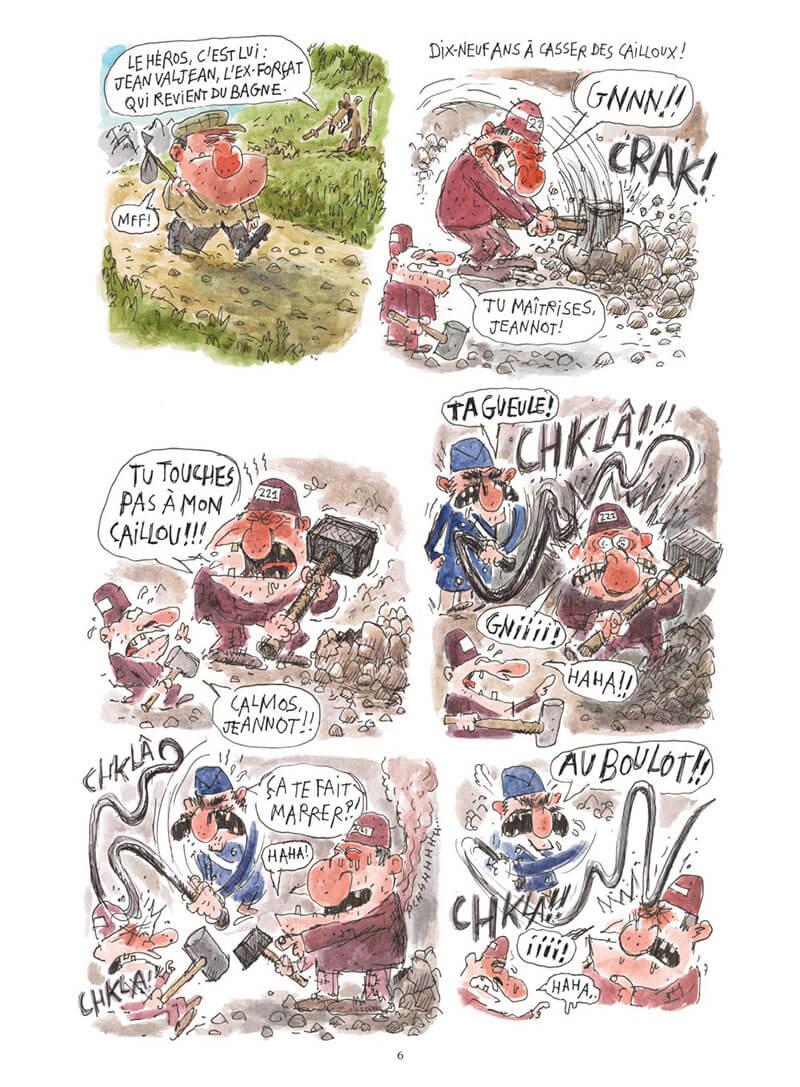 Les Misérables, planche de l'album © Glénat / Salch / Hugo