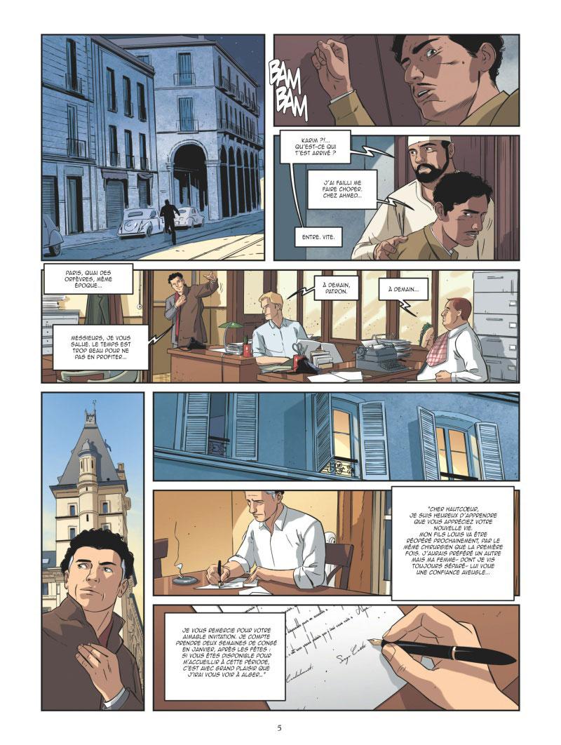 Les Mystères de la 4e République, planche du tome 5 © Glénat / Buscaglia / Richelle / Boccato