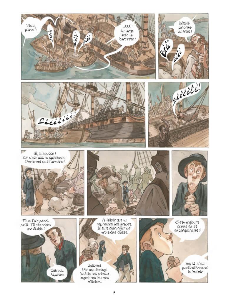 Les naufragés de la Méduse, planche de l'album © Casterman / Bordas / Deveney