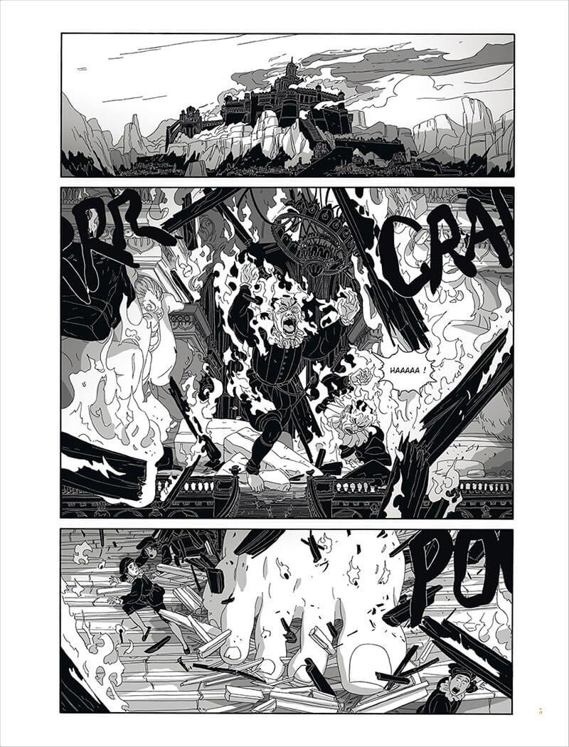 Les ogres-Dieux, planche du tome © Delcourt / Gatignol / Hubert