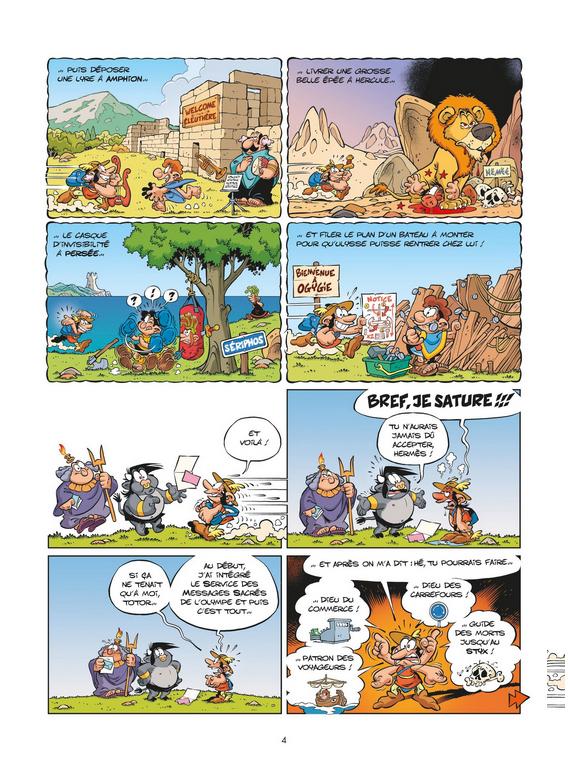 Les Petits Mythos, planche du tome 12 © Bamboo / Larbier / Cazenove / Amouriq