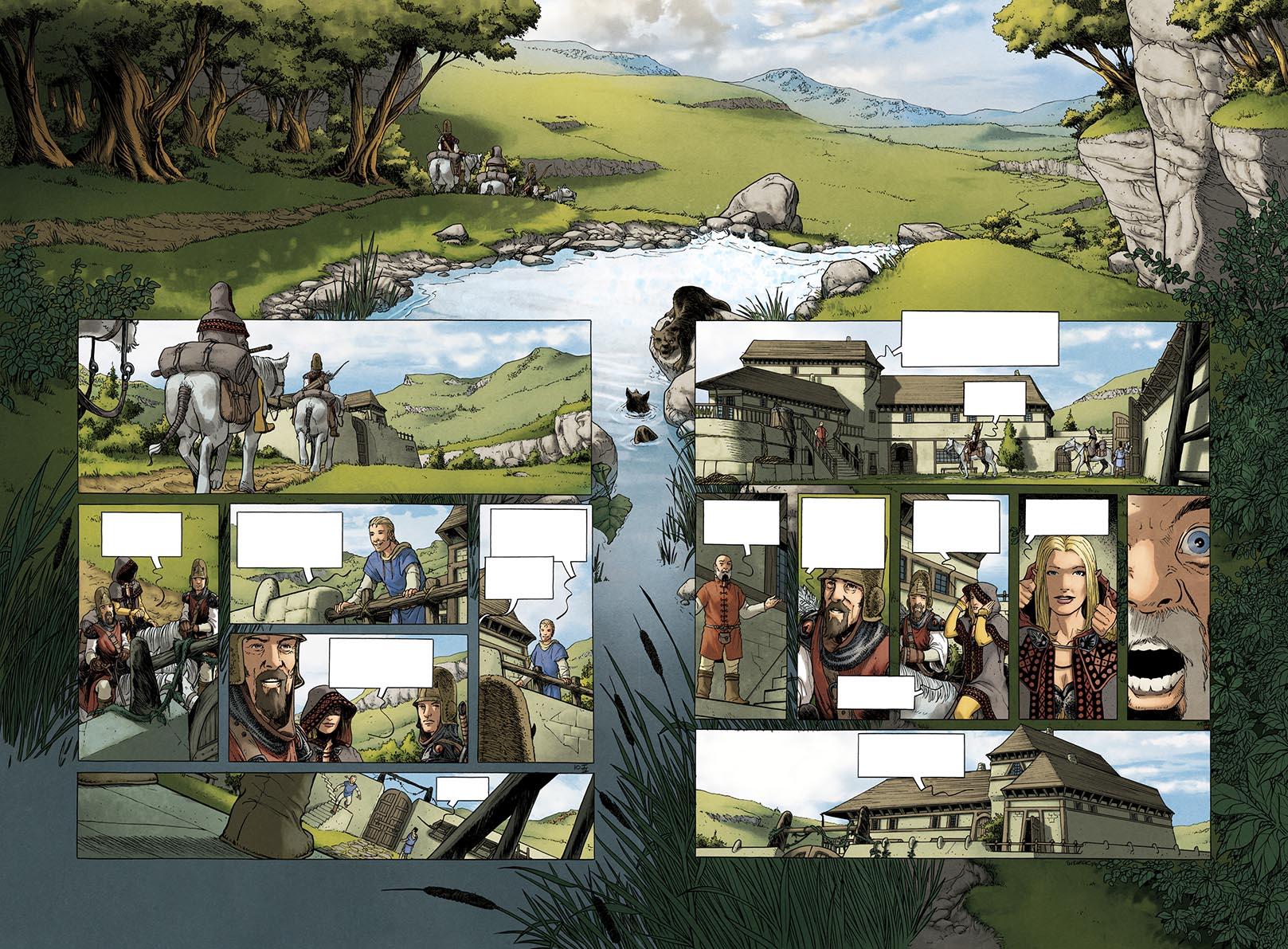 Les prophéties Elween, l'intégrale, planche de l'album © 100bulles / Sieurac