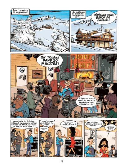 Les savoureuses enquêtes d'Hercule Poireau et du Commissaire Magret, planche du tome 1 © Jungle / Carrère / Falzar / Cerise