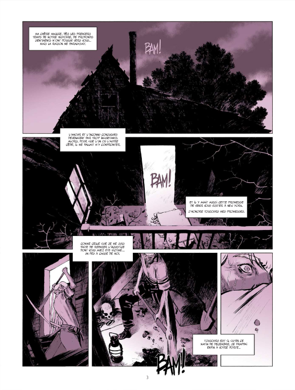 Les soeurs Fox, planche du tome 2 © Bamboo / Charlet / Charlot