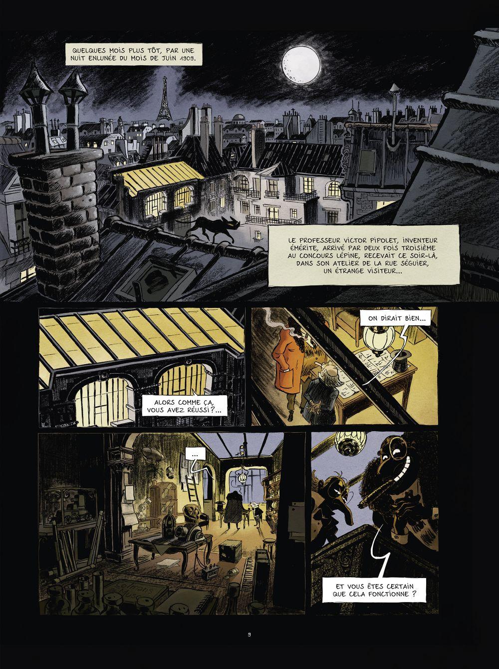 une aventure de Spectaculaires, planche du tome 1 © Rue de Sèvres / Poitevin / Hautière