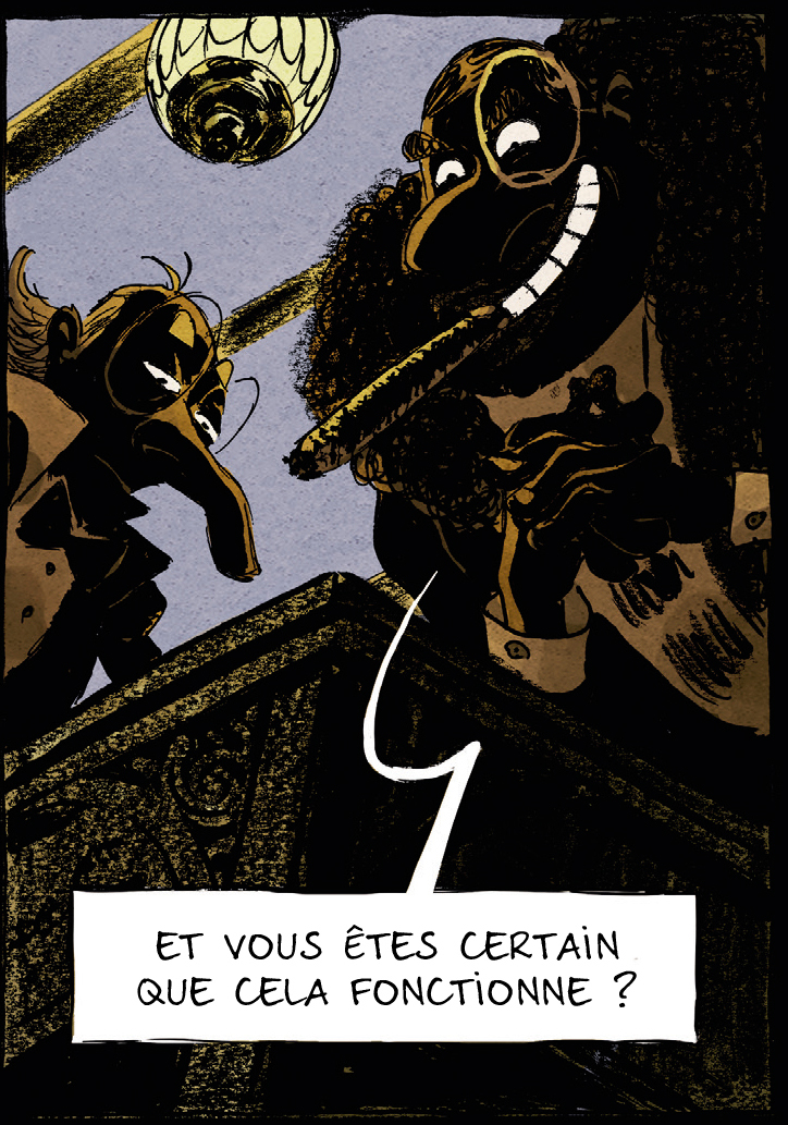 une aventure de Spectaculaires, case du tome 1 © Rue de Sèvres / Poitevin / Hautière