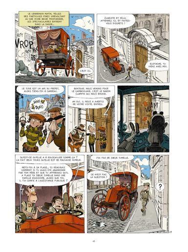 une Aventure des Spectaculaires, planche du tome 5 © Rue de Sèvres / Poitevin / Hautière / Bouchard