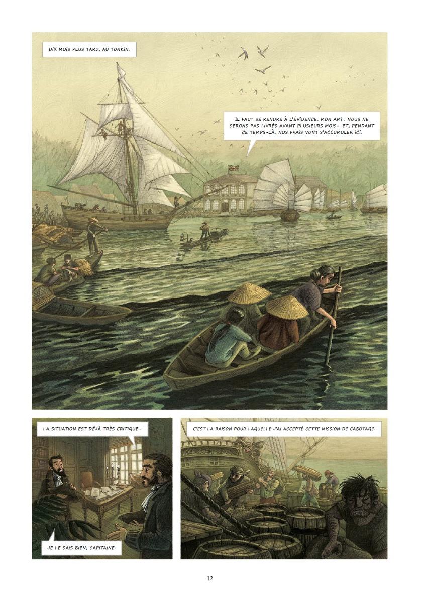 Les voyages de Gulliver - De Laputa au Japon, planche de l'album © Soleil / Echegoyen / Galic / Swift