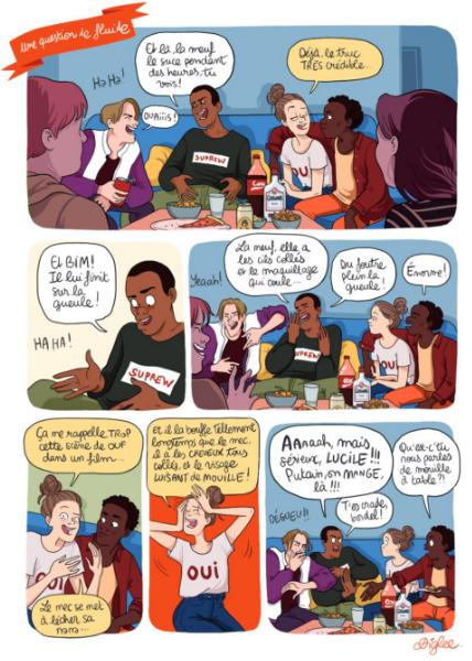 Libres ! Manifeste pour s'affranchir des diktats sexuels, extrait de l'album © Delcourt / Diglee / Ovidie