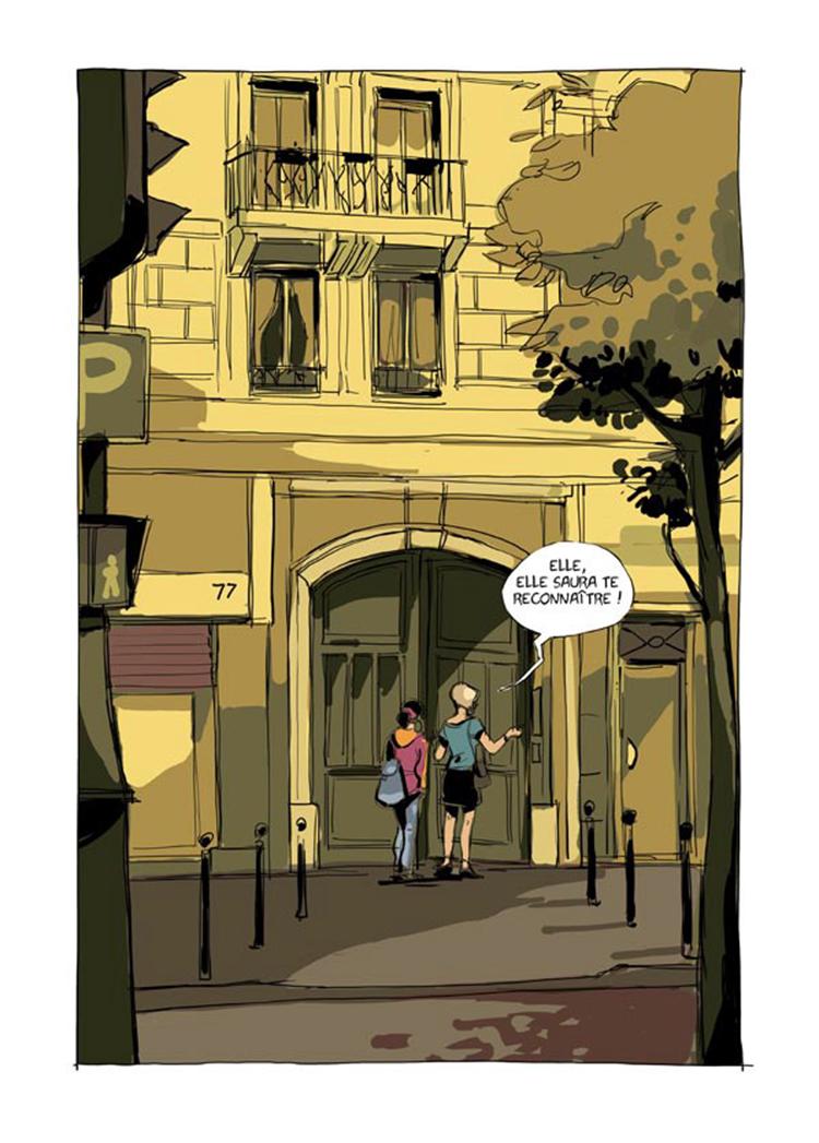 Luisa, ici et là, planche de l'album © La boite a bulles / Maurel