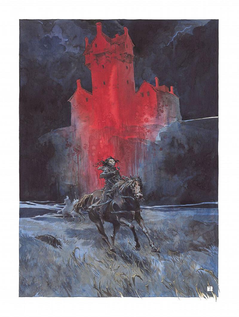 Macbeth, roi d'Écosse, planche du tome 2 © Glénat / Sorel / Day