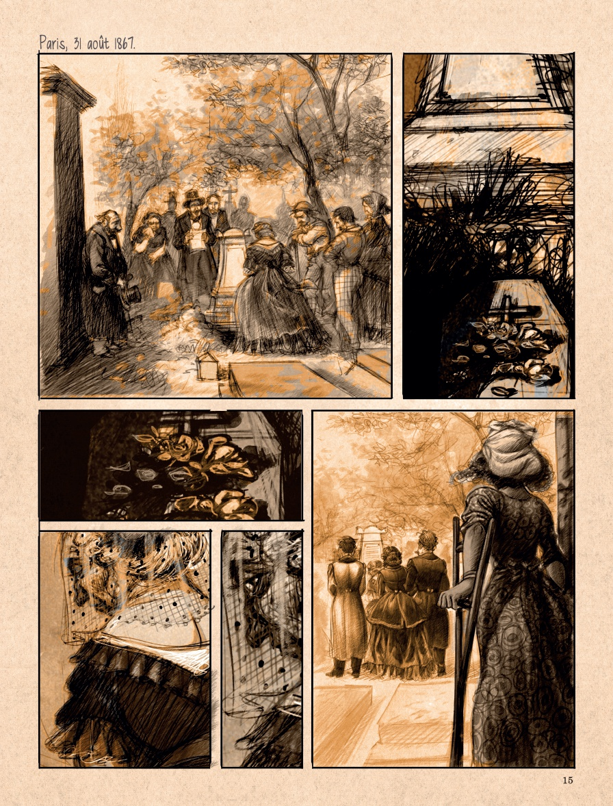 Mademoiselle Baudelaire, planche de l'album © Dupuis / Yslaire