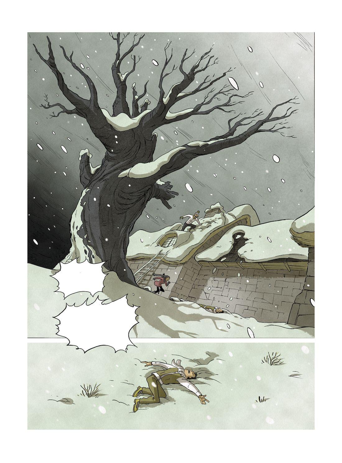 La maison aux souvenirs, planche de l'album © Grand Angle / Delestret