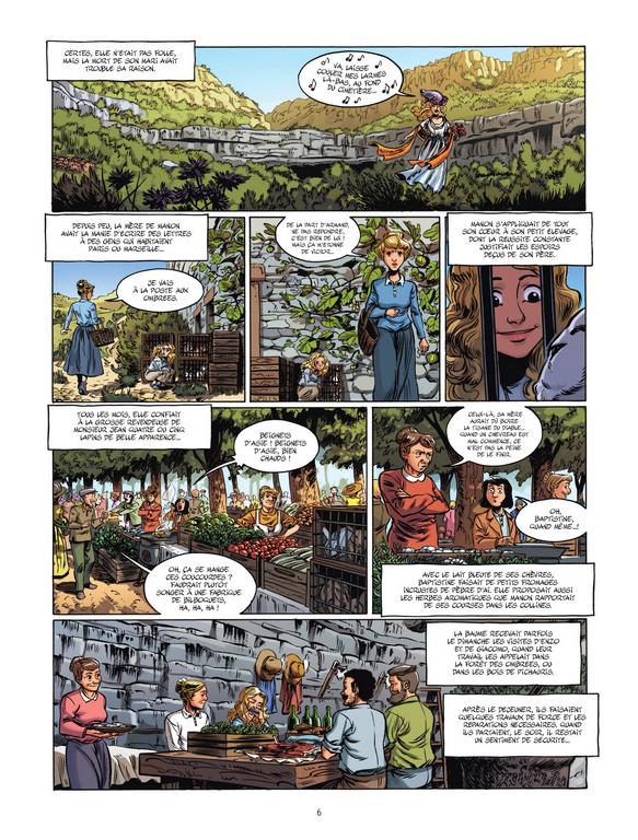 Manon des sources, planche du tome 1 © Bamboo / Galland / Scotto / Stoffel / Guillé / Pagnol