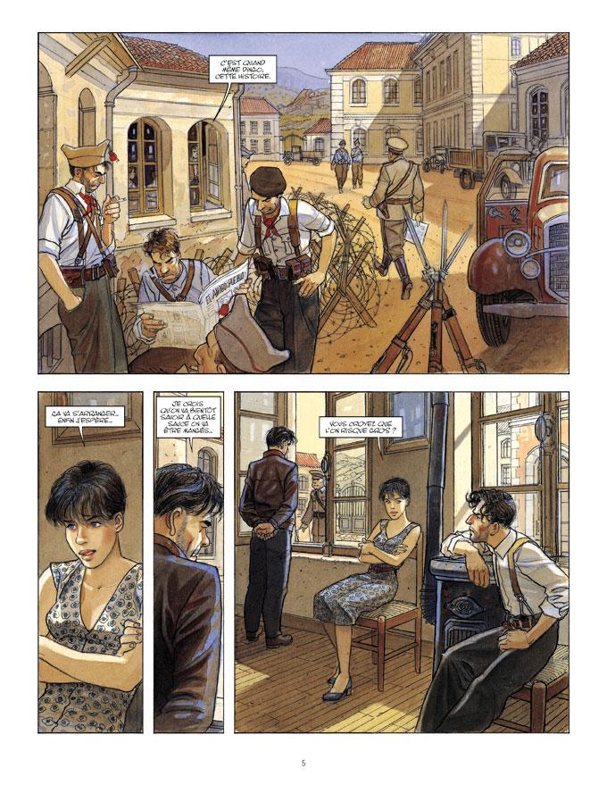 Mattéo, planche du tome 4 © Futuropolis / Gibrat