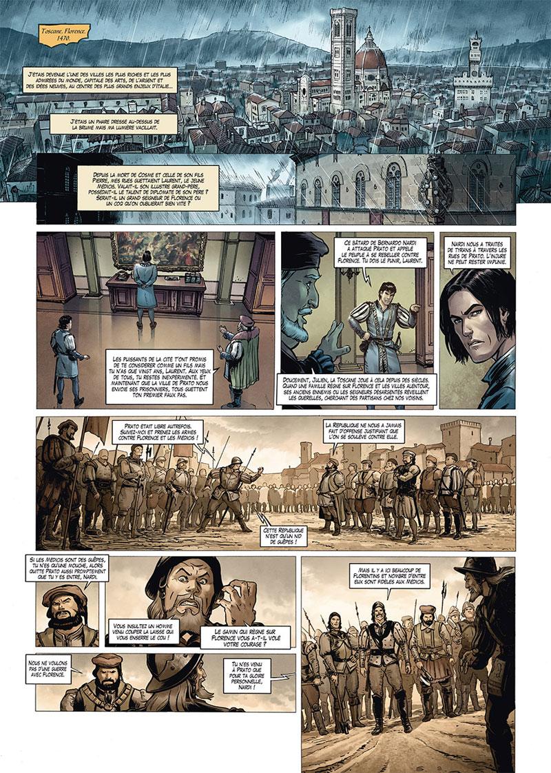 Médicis, planche du tome 2 © Soleil / Torrents / Peru