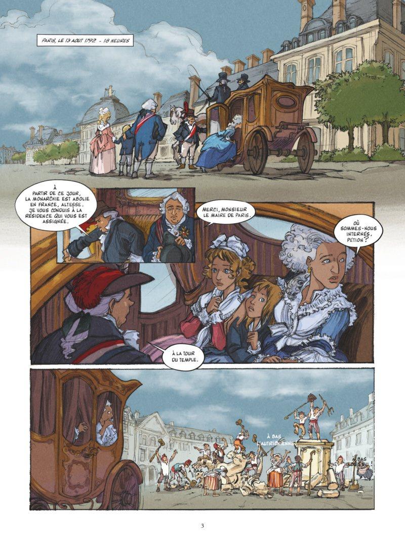 Mémoires de Marie-Antoinette, planche du tome 1 © Glénat / Python / Simsolo / Smulkowski
