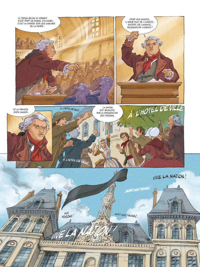 Mémoires de Marie-Antoinette, planche du tome 2 © Glénat / Python / Simsolo / Smulkowski