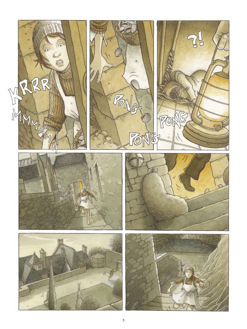 Meurtre au Mont-Saint-Michel, planche de l