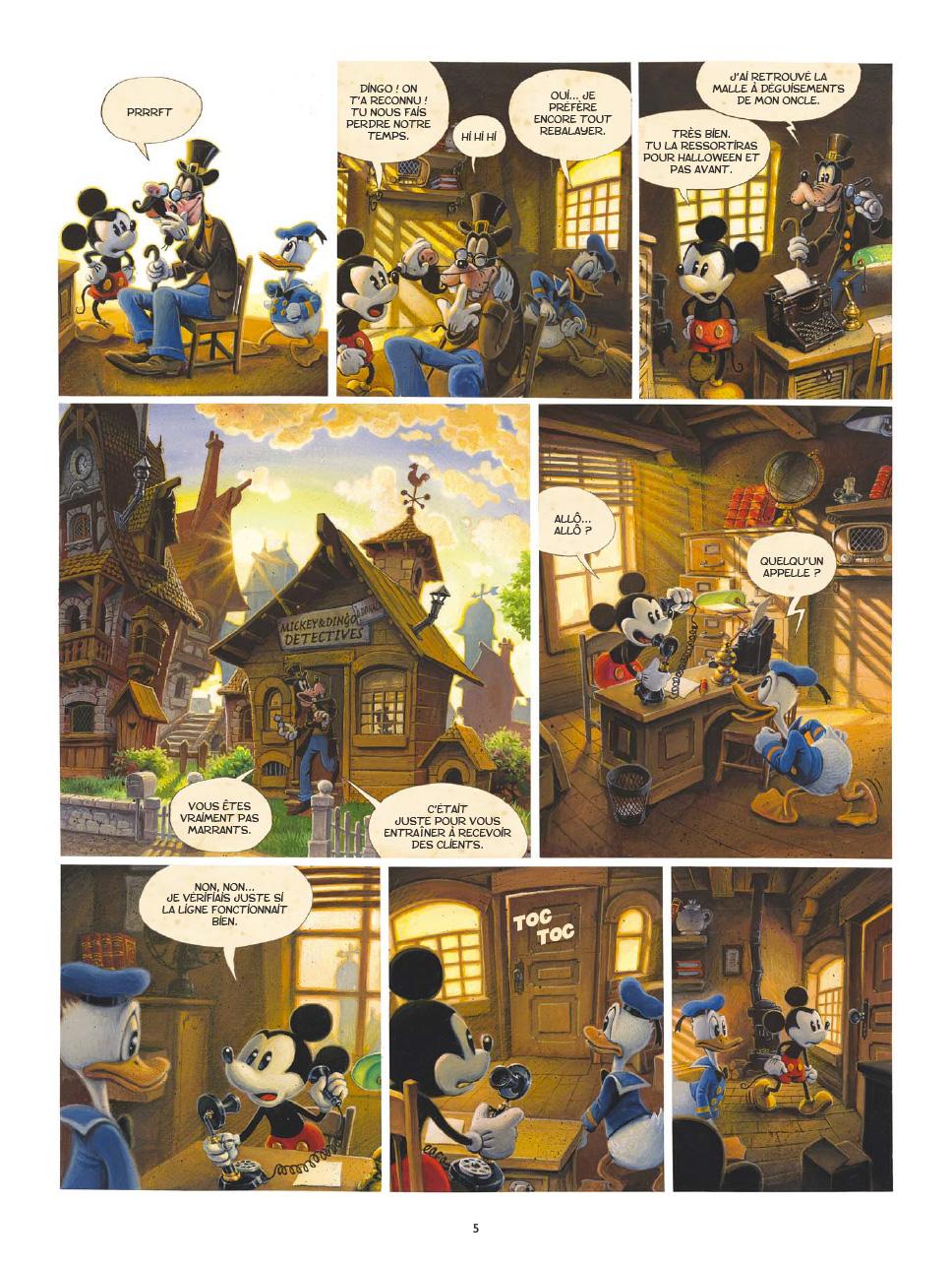 Une terrifiante aventure de Mickey Mouse - Horrifikland, planche du tome 1 © Glénat / Nesmes / Trondheim
