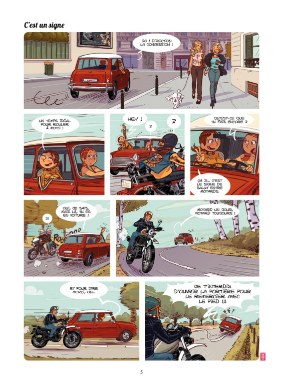 Miss Harley, planche du tome 1 © Bamboo / Roux / Poitevin / Gürel