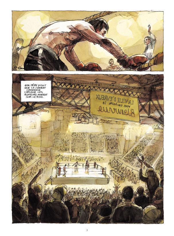 Mon père était boxeur, planche de l'album © Futuropolis / Bailly / Pellerin / Kriss