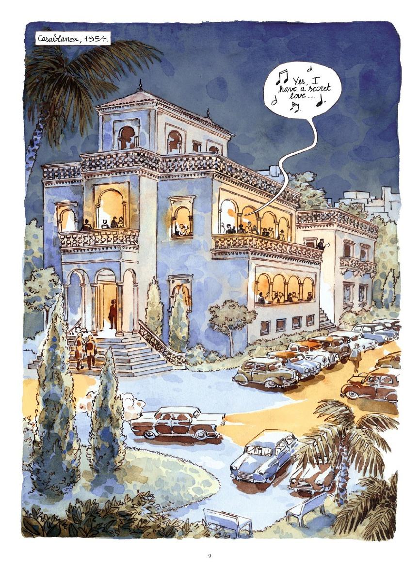 Morocco Jazz, planche de l'album © Vents d'Ouest / Ricossé