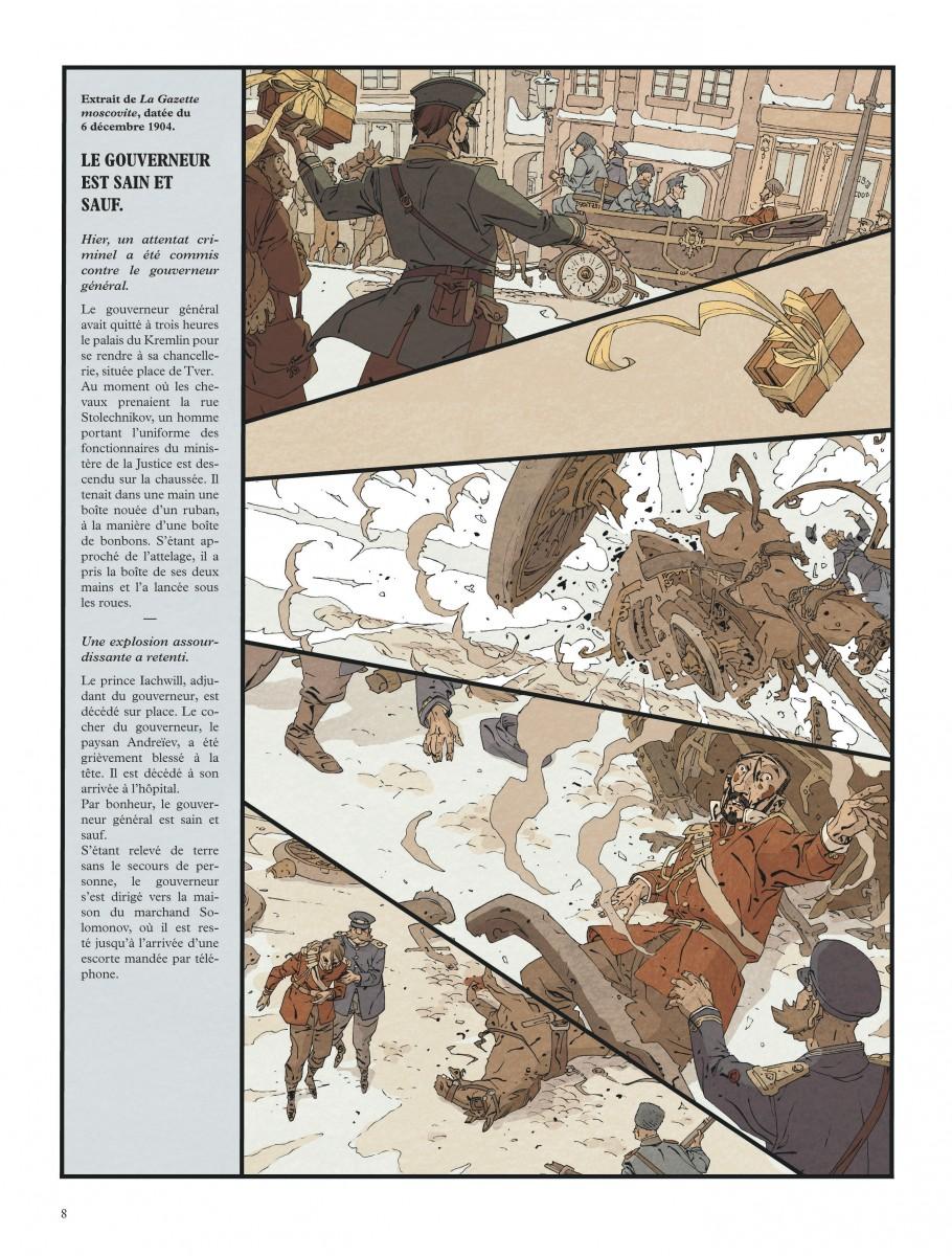 Mort au Tsar, planche du tome 2 © Dargaud / Robin / Nury