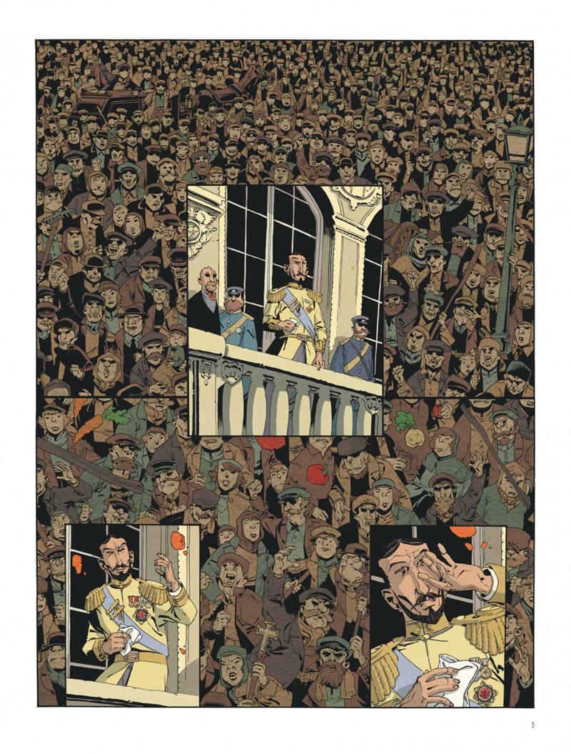 Moscou année zéro ou mort au tsar réinventé, planche de l'album © Dargaud / Robin / Nury