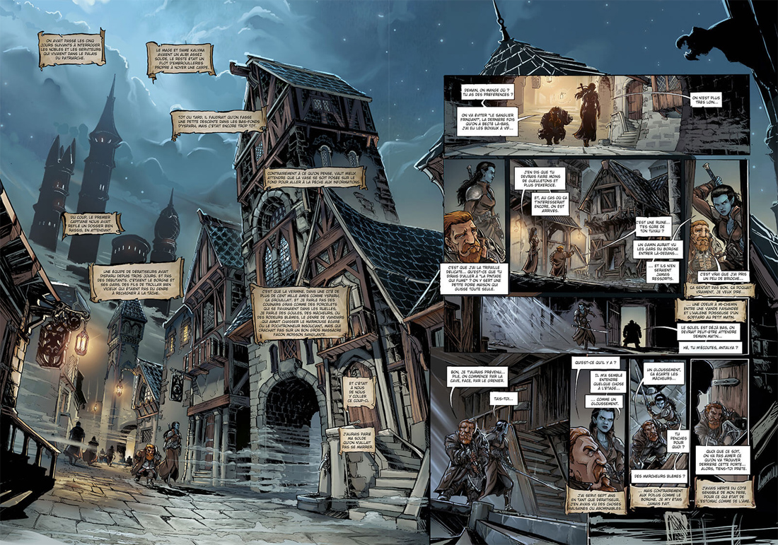 Nains, planches du tome 18 © Soleil / Deplano / Jarry / Powell