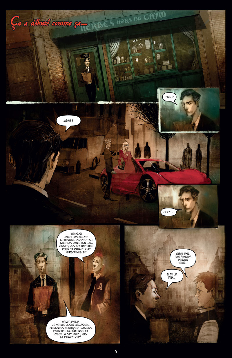 October faction, planche du tome 1 © Worm / Niles