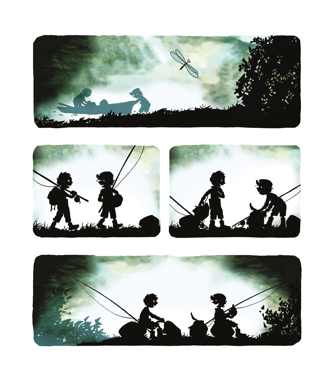 Ogres et Cie, planche de l'album © Editions du Long Bec / Wagner