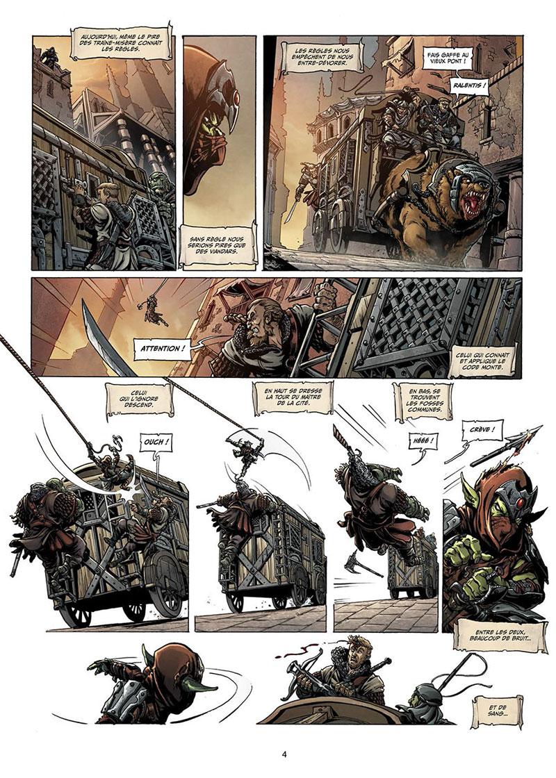 Orcs & Gobelins, planche du tome 4 © Soleil / Vukic / Deplano / Jarry