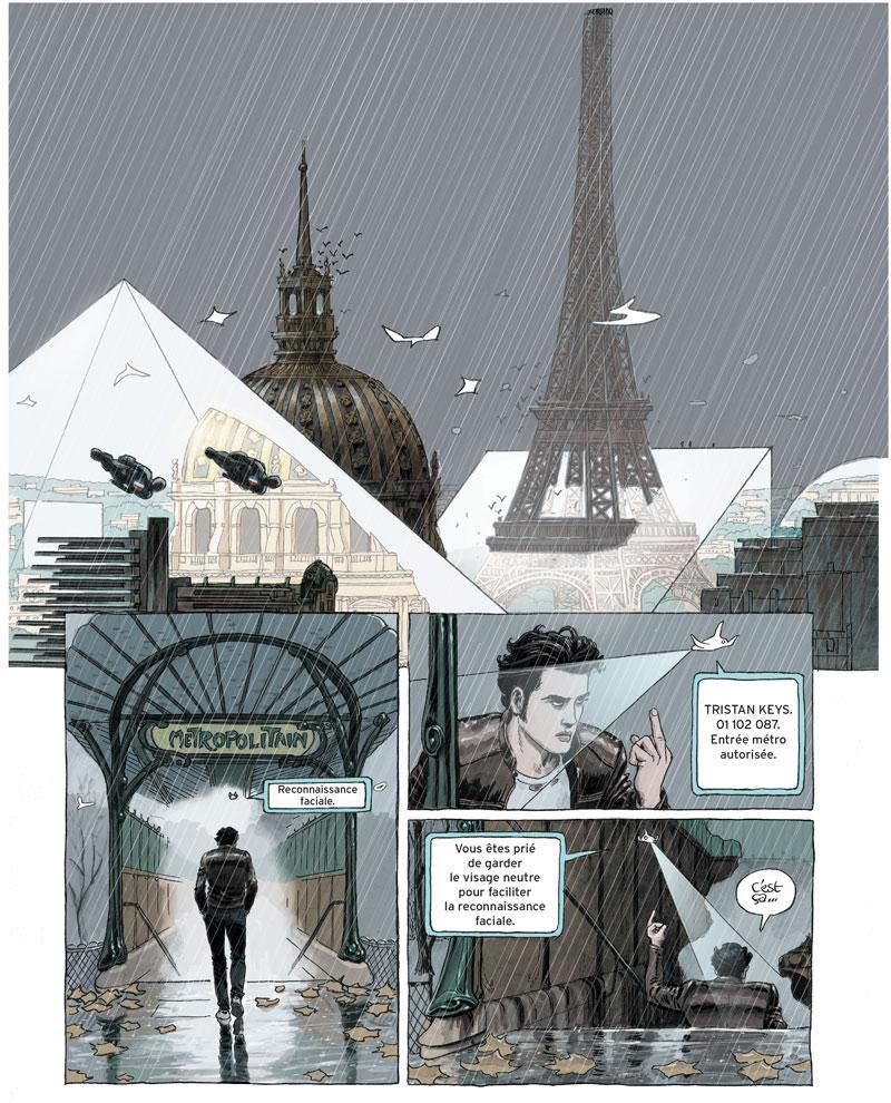 Paris 2119, planche de l'album © Rue de Sèvres / Bertail / Zep / Georges