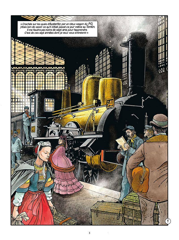Les Passagers du Vents, planche du tome 8 © Delcourt / Bourgeon
