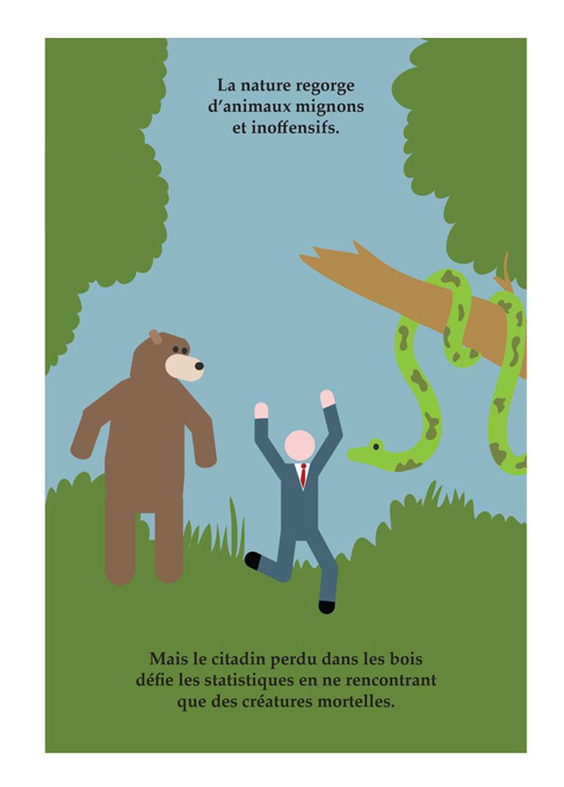 Petit illustré des gros clichés d'Hollywood, planche du tome 2 © Jungle / Barte