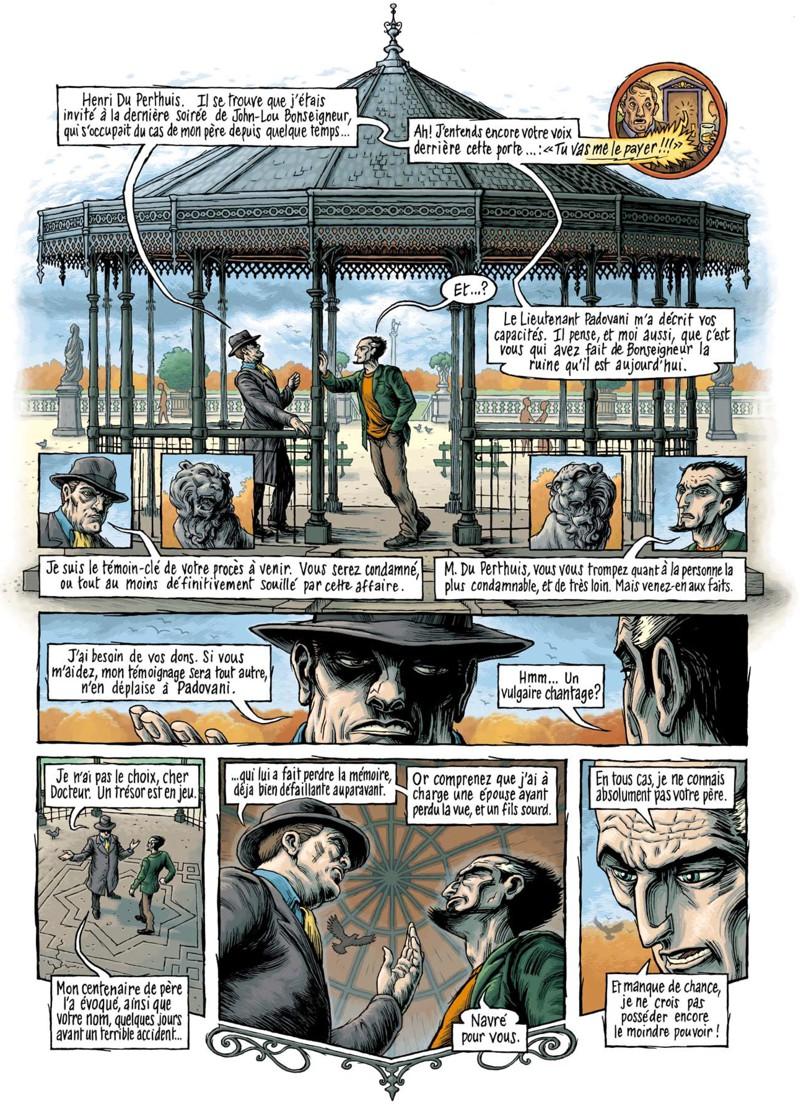 Psycho-Investigateur, planche du tome 4 © Petits à Petits / Dahan / Courbier / Dahan